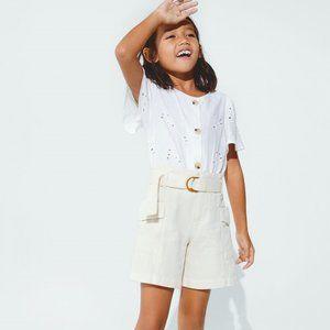 Zara Kids Ivory Buckle Shorts NWT 13-14 years
